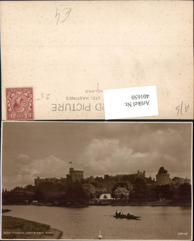 401650,England Windsor Castle from River Schloss