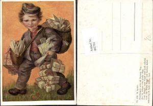 402701,Künstler AK M. Spötl 459 Briefträger Pakete Briefe