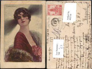 402716,Künstler AK T. Corbella Frau m. Kurzen Haaren Stola Portrait