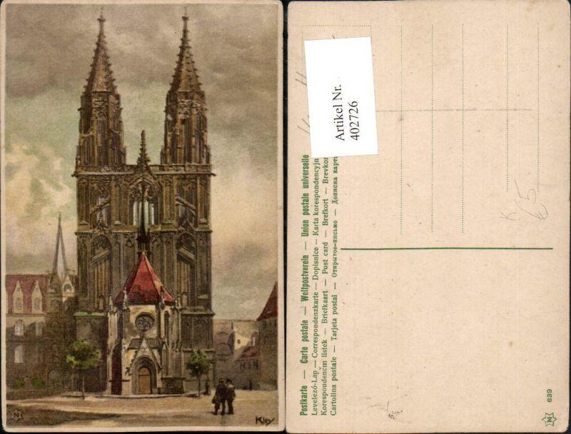 402726,Künstler AK Heinrich Kley Dom Kirche pub Novolito 639