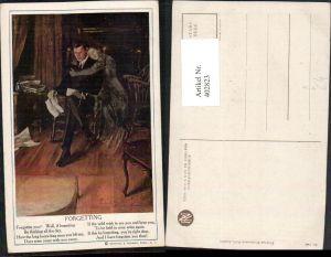 402823,Reinthal & Newman 141 Künstlerkarte Forgetting Mann Brief Frau Erscheinung