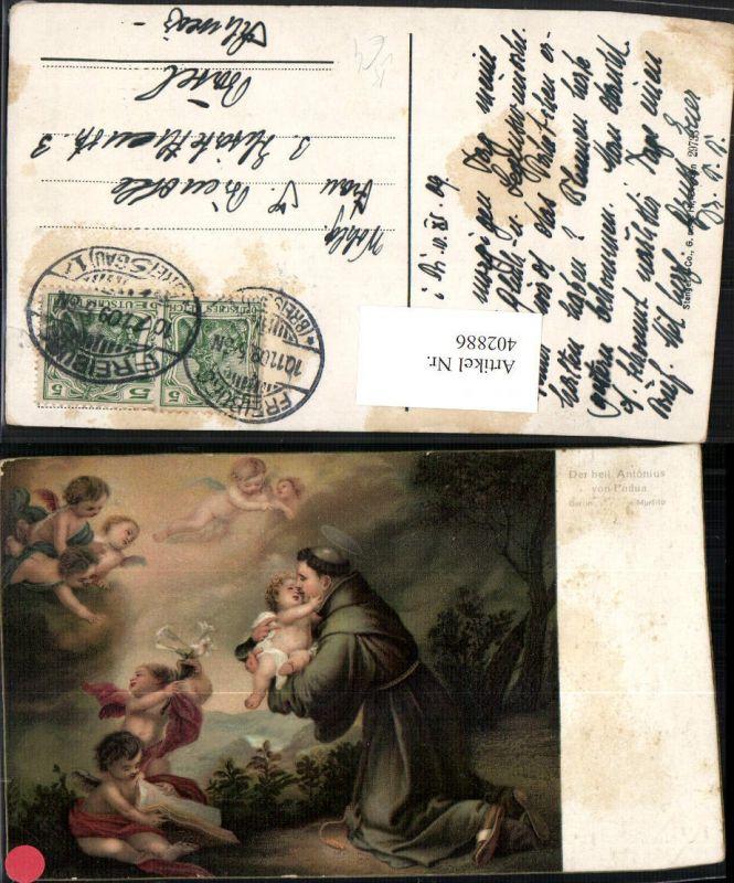 402886,Stengel Co 29733 Künstler Murillo Heiliger Antonius von Padua Engeln