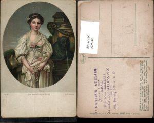 402889,Stengel Co 29897 Künstler Jean Baptiste Greuze Der zerbrochen Krug Frau m. Kleid