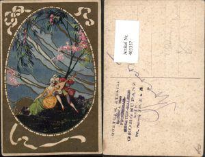 403357,Italienische Künstler AK T. Corbella Liebe Paar Mandoline