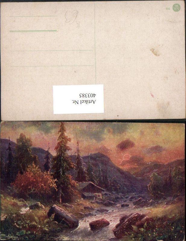 403385,Künstler AK Schweiger Landschaft Bergkulisse