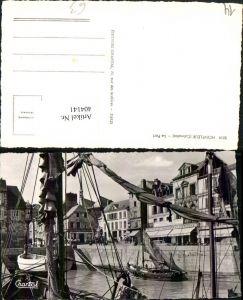 404141,Basse-Normandie Calvados Honfleur Le Port Hafen Segelboote Boote