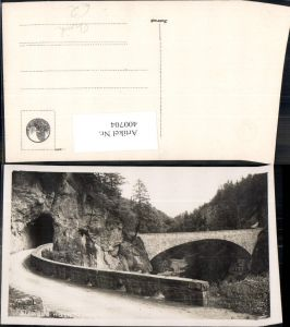 400704,Foto Ak Brücke Straße Tunnel