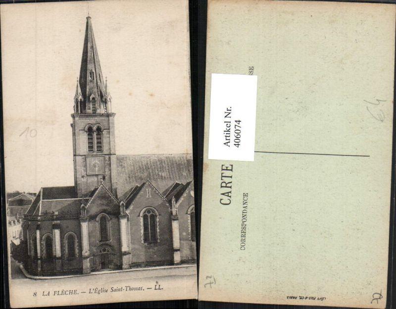 406074,Pays de la Loire Sarthe La Fleche L'Eglise Saint-Thomas Kirche