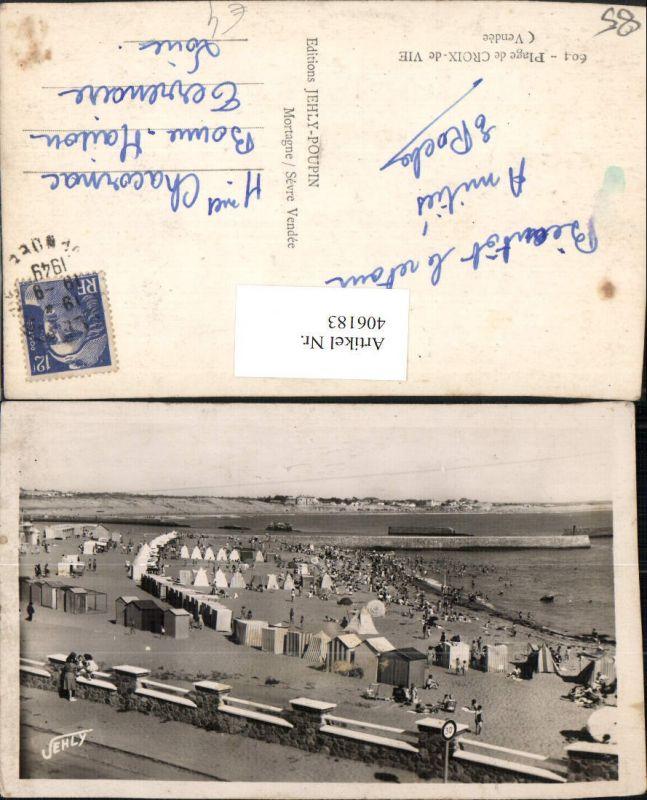 406183,Pays de la Loire Vendee Plage de Croix-de-Vie Strand Strandleben