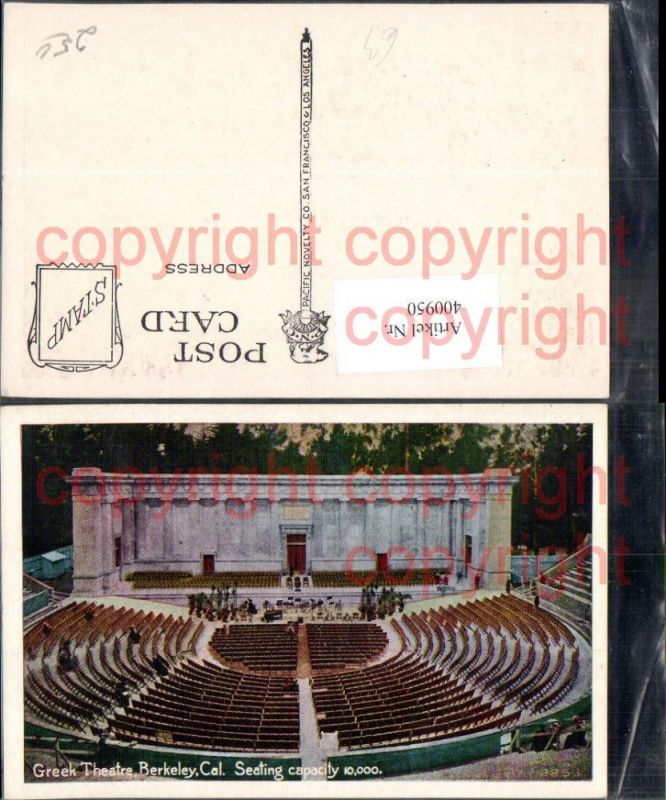 400950,Greek Theatre Berkeley California Freiluftbühne Theater