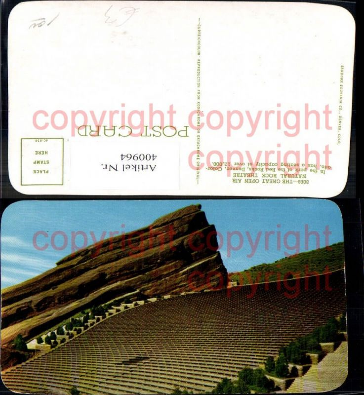 400964,The Great open air natural Rock Theatre Red Rocks Denver Colorado