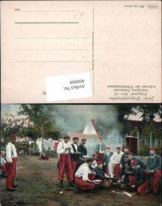 408888,WW1 Kriegsgefangene Gefangene Franzosen Frühstückspause