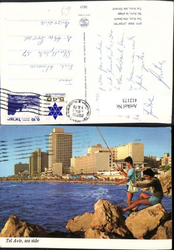 412175,Israel Tel Aviv Beach Strand Küste