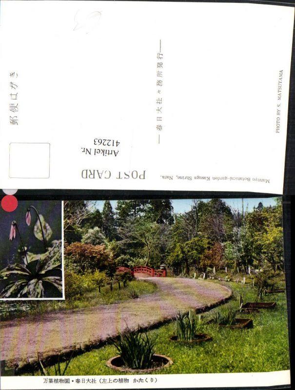 412263,Japan Nara Kasuga Shrine Mannyo Botanical garden Garten