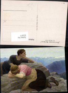 412477,Künstler AK Th. Walch Imst Verlorene Heimat Frauen Trauer Bergkulisse