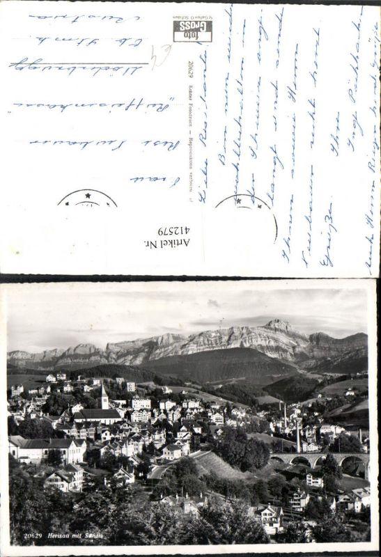 412579,Herisau Totale m. Säntis Bergkulisse Kt Appenzell