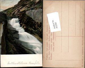 412581,Gotthardtstrasse Wasserfall an d. Teufelsbrücke Kt Appenzell