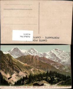 412671,Schynige Platte Bahn m. Eiger Mönch u. Jungfrau Bergkulisse Kt Bern