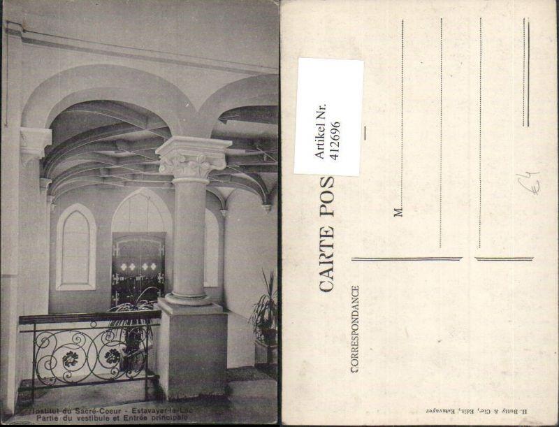 412696,Estavayer-le-Lac Institut du Sacre-Coeur Partie du vestibule Kt Freiburg