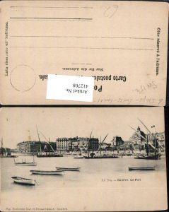 412708,Geneve Genf Le Port Hafen Segelboote Boote