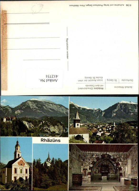 412731,Rhäzüns Totale Schloss Kirche Mehrbildkarte Kt Graubünden