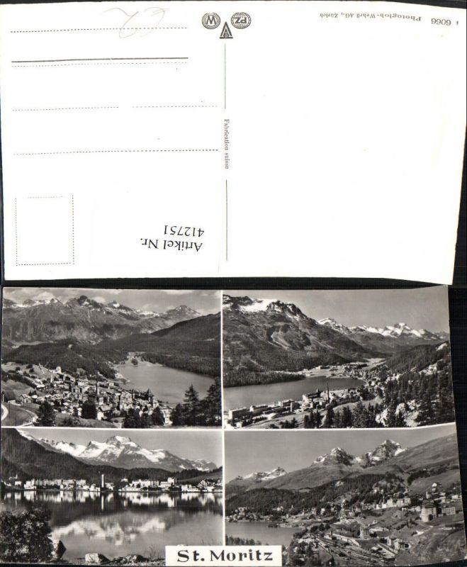 412751,St. Moritz Totale Mehrbildkarte Kt Graubünden