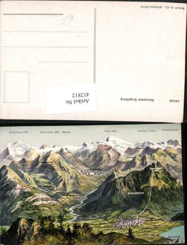 412812,Stansstad Engelberg Totale Bergkulisse Kt Nidwalden