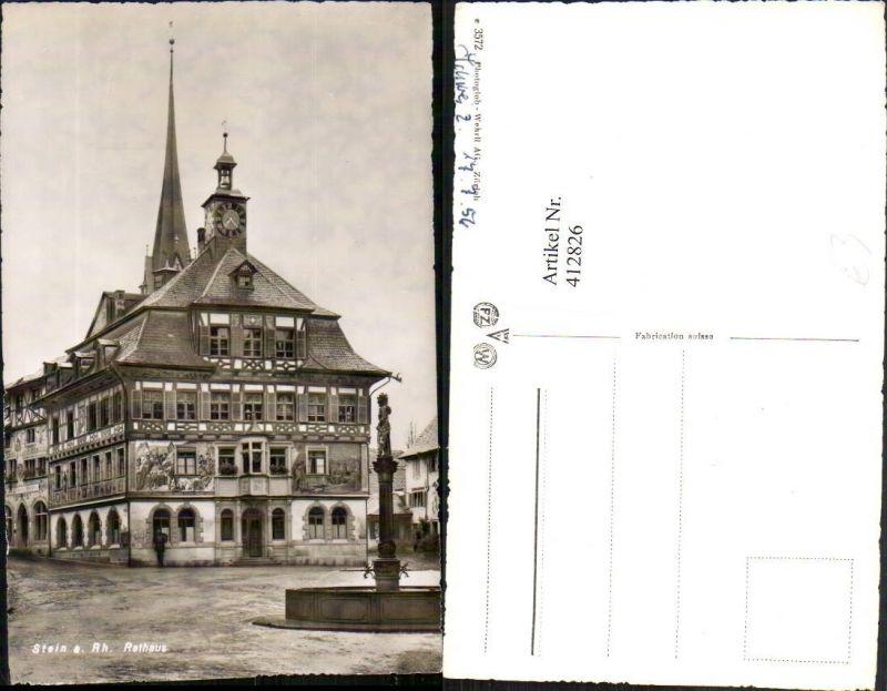412826,Stein am Rhein Rathaus Brunnen Kt Schaffhausen