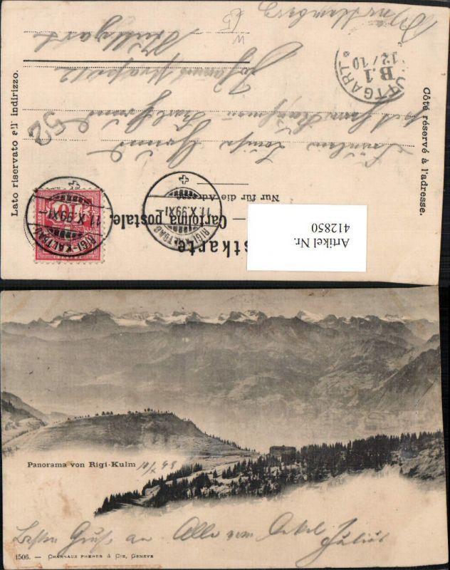 412850,Panorama von Rigi-Kulm Bergkulisse Kt Schwyz