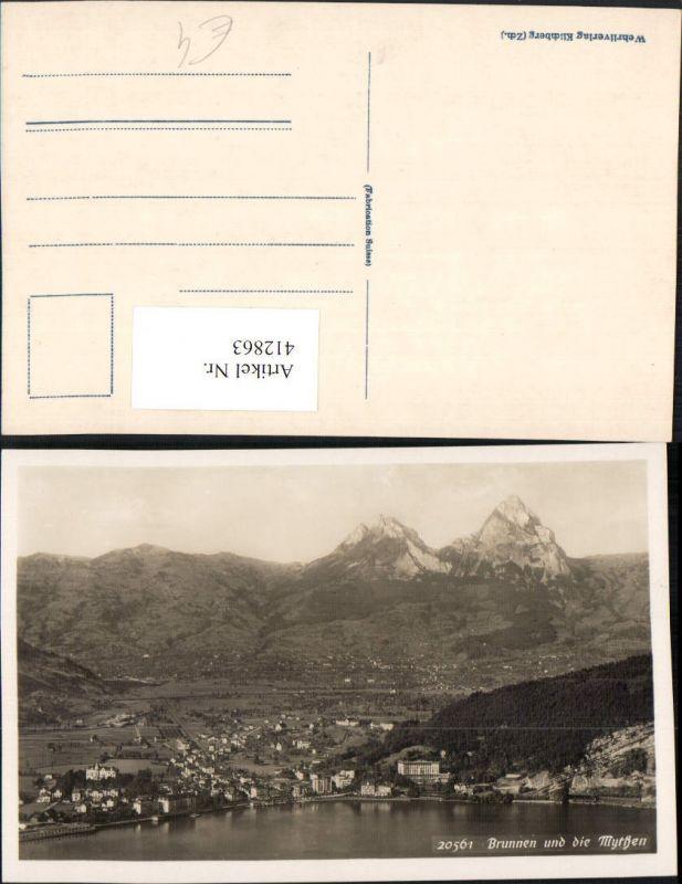 412863,Brunnen Totale m. Mythen Bergkulisse Kt Schwyz