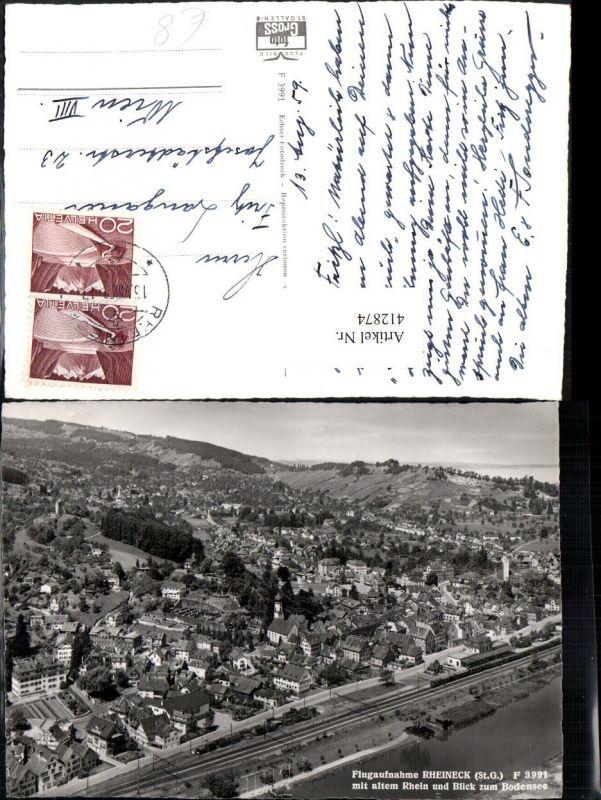 412874,Rheineck Totale Fliegeraufnahme Kt St Gallen