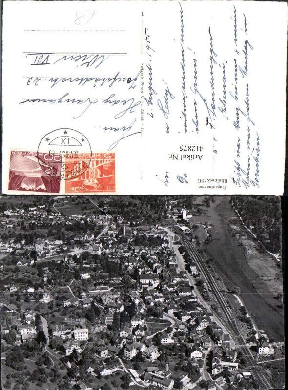 412875,Rheineck Totale Fliegeraufnahme Kt St Gallen