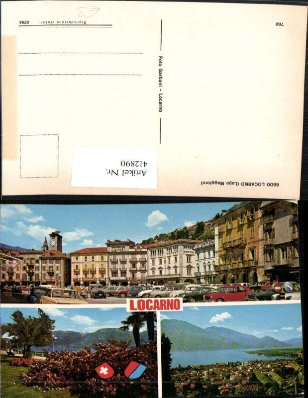 412890,Locarno Totale Hauptplatz Mehrbildkarte Kt Tessin