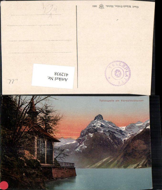 412938,Tellskapelle b. Seelisberg Bergkulisse Kt Uri pub Carl Künzli 5081