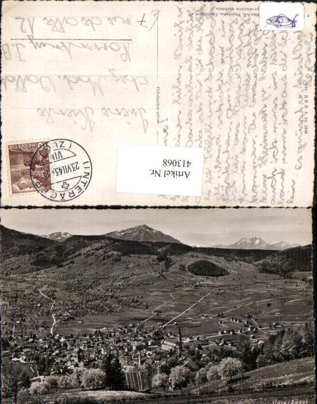 413068,Unterägeri Totale Bergkulisse Kt Zug