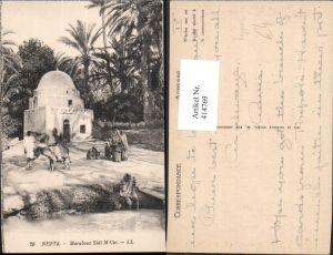 414769,Nefta Marabout Sidi M Cir Tunesien Esel Volkstypen Afrika