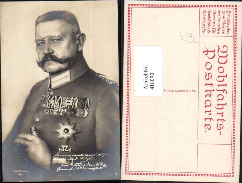 418090,General Hindenburg Uniform Orden Adel Monarchie Deutschland