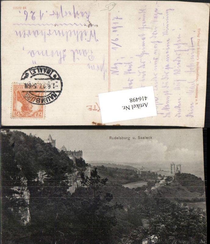 416498,Rudelsburg u. Burg Saaleck b. Bad Kösen