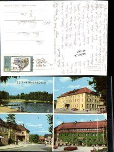 417007,Seifhennersdorf Waldbad Silberteich Ferienheim Filmtheater Rathaus Mehrbildkarte pub VEB