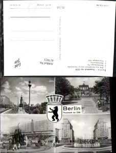 417021,Berlin Fernsehturm Marienkirche Brandenburger-Tor Brunnen Mehrbildkarte
