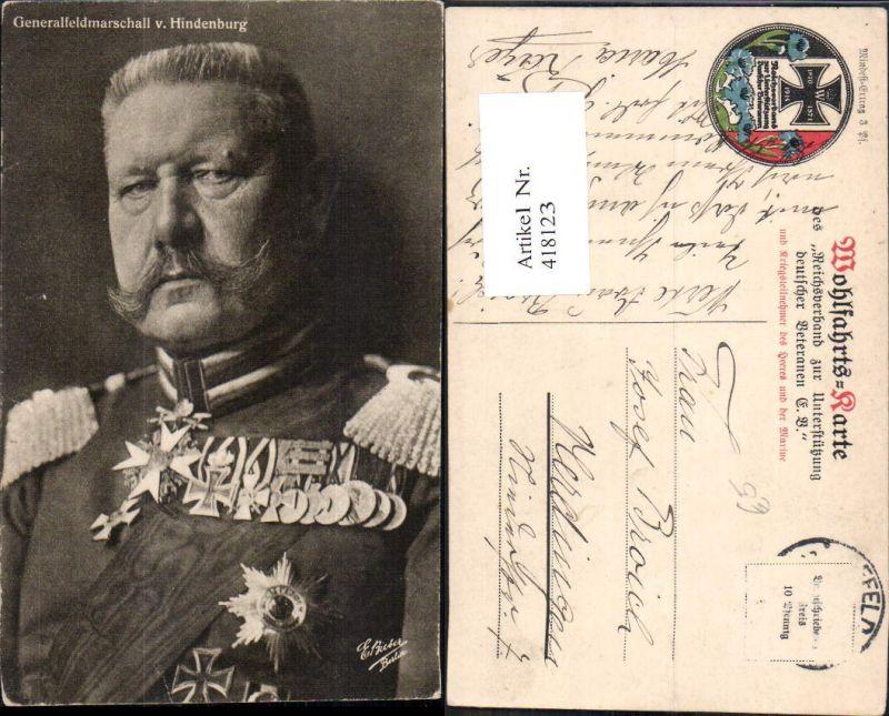 418123,Generalfeldmarschall v. Hindenburg Adel Monarchie Deutschland