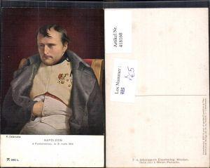 418160,P. Delaroche Napoleon a Fontainebleau 1814 Adel Frankreich pub F. A. Ackermann 135/1801b