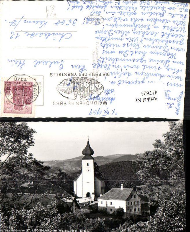 417623waidhofen An D Ybbs St Leonhard Am Walde Kirche Nr 417623