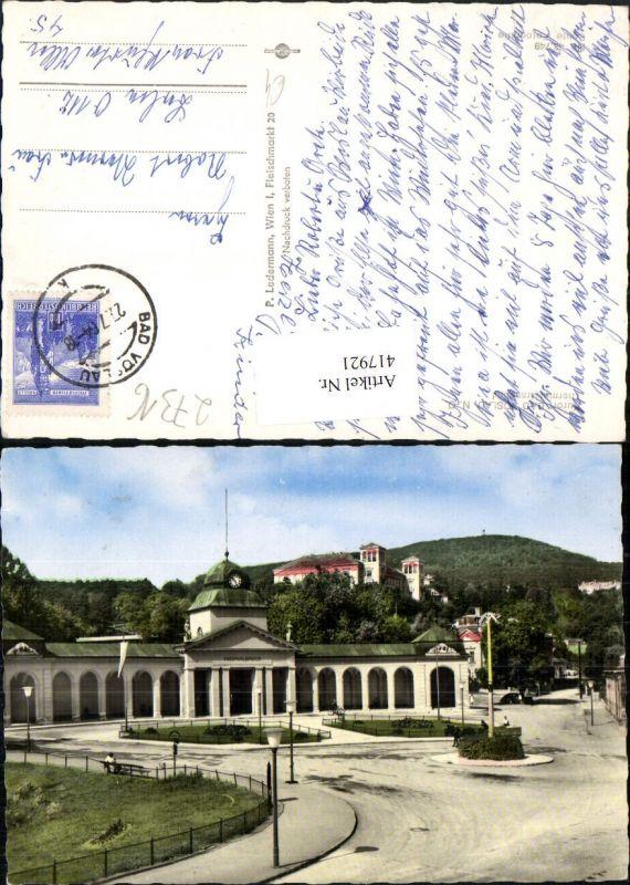 Ansichtskarten 468581,bad Vöslau Kirche Brunnen Thermalbad Mehrbildkarte
