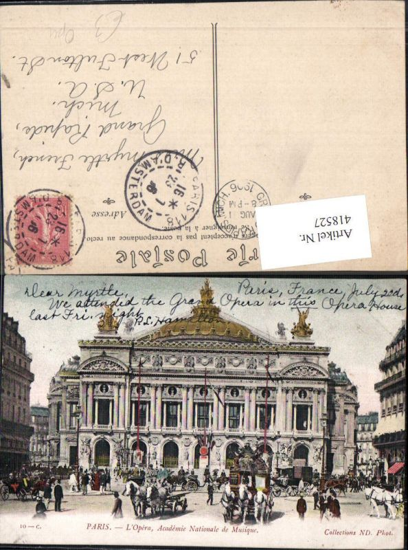 418527,Paris L Opera Academie Nationale de Musique Oper Kutsche