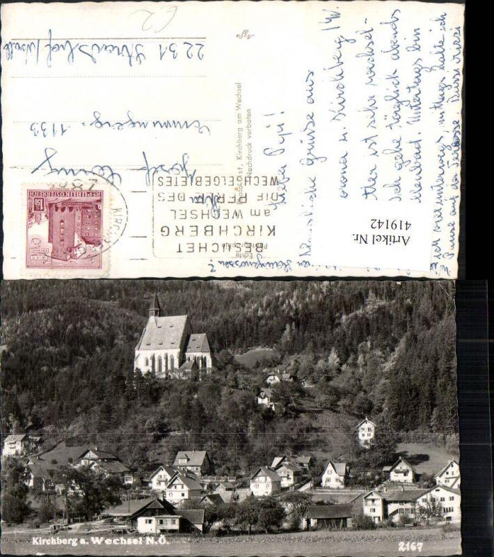419142,Kirchberg am Wechsel Teilansicht m. Kirche 0