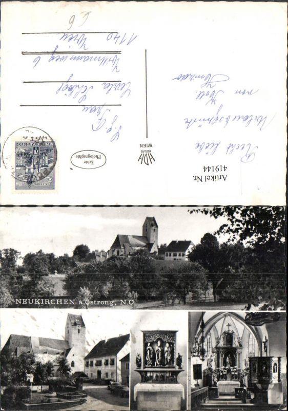 419144,Neukirchen am Ostrong Kirche Innenansicht Altar Mehrbildkarte 0