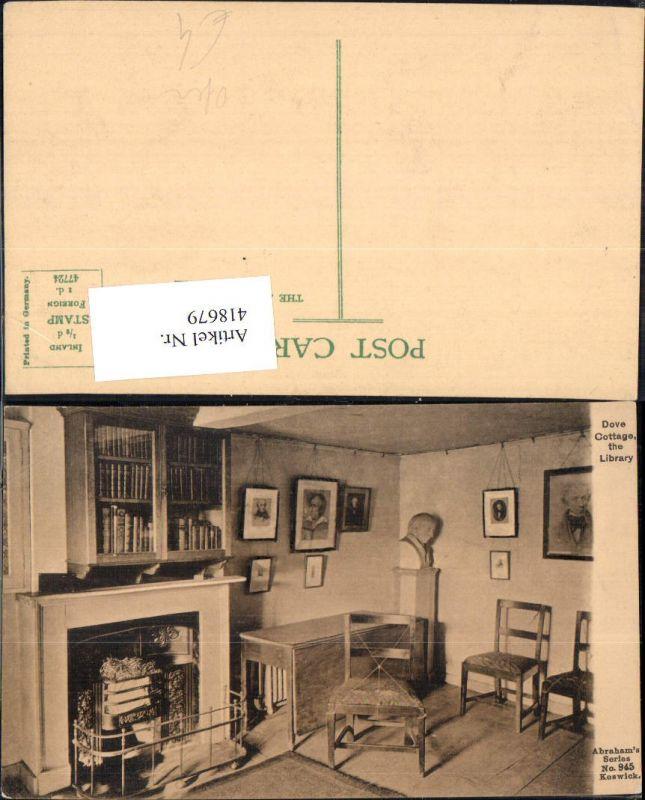 418679,Dove Cottage the Library Ofen Kamin Bibliothek