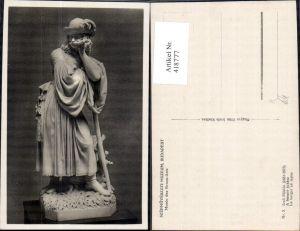418777,Budapest Izso Miklos A busulo juhasz Szepmüveszeti Museum Statue Monument
