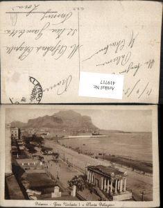 419717,Sicilia Palermo Foro Umberto e Monte Pellegrino Strand